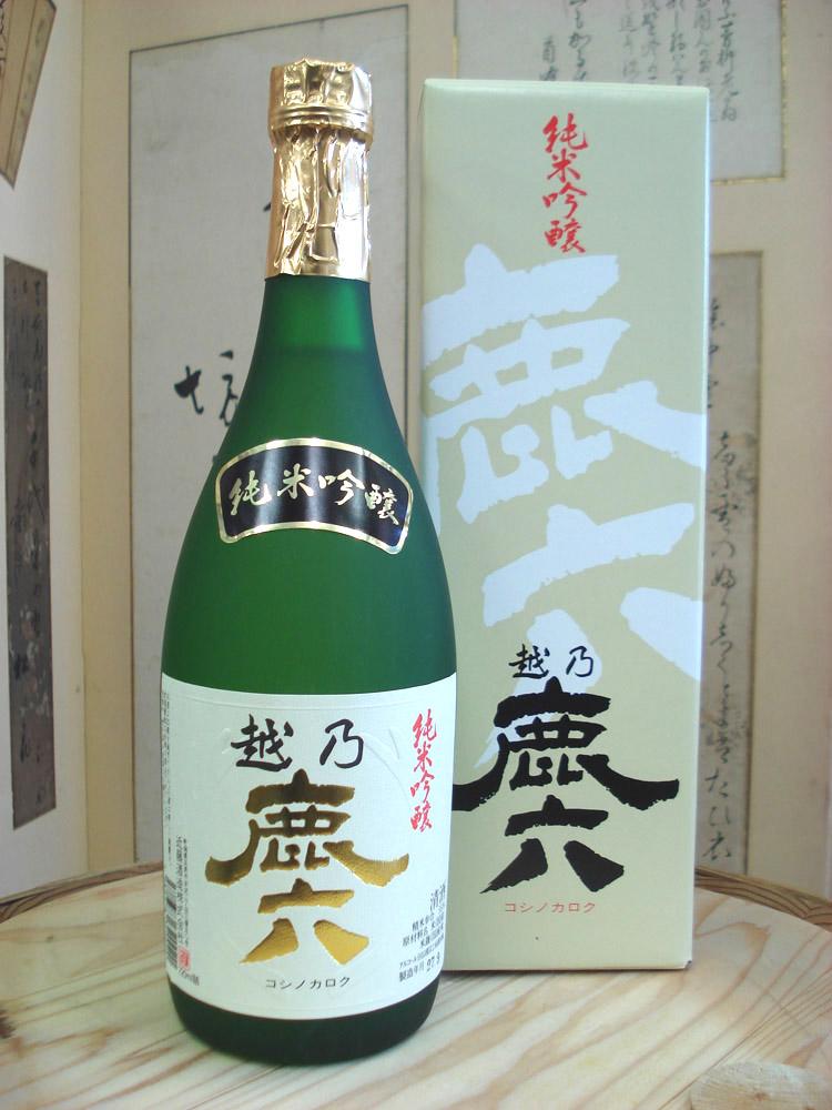 五泉 近藤酒造 純米吟醸 越乃鹿六 720ml