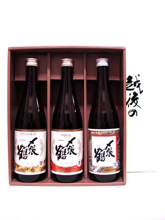 〆張鶴セット② 「雪月花 本醸造系酒3本セット」