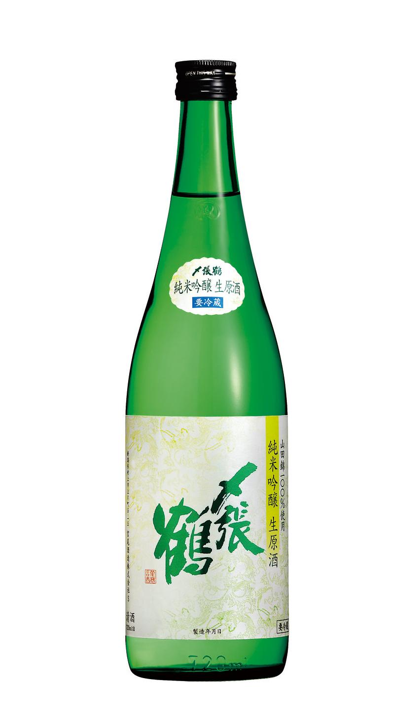 〆張鶴 純米吟醸生原酒 1.8L